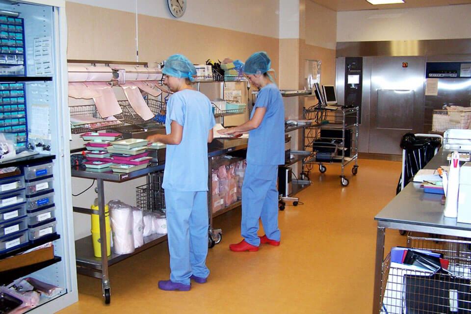 Stérilisation zone conditionnement